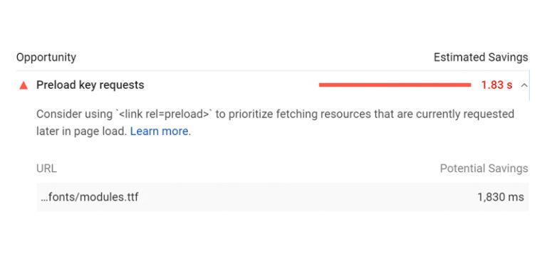 Preload Key Requests