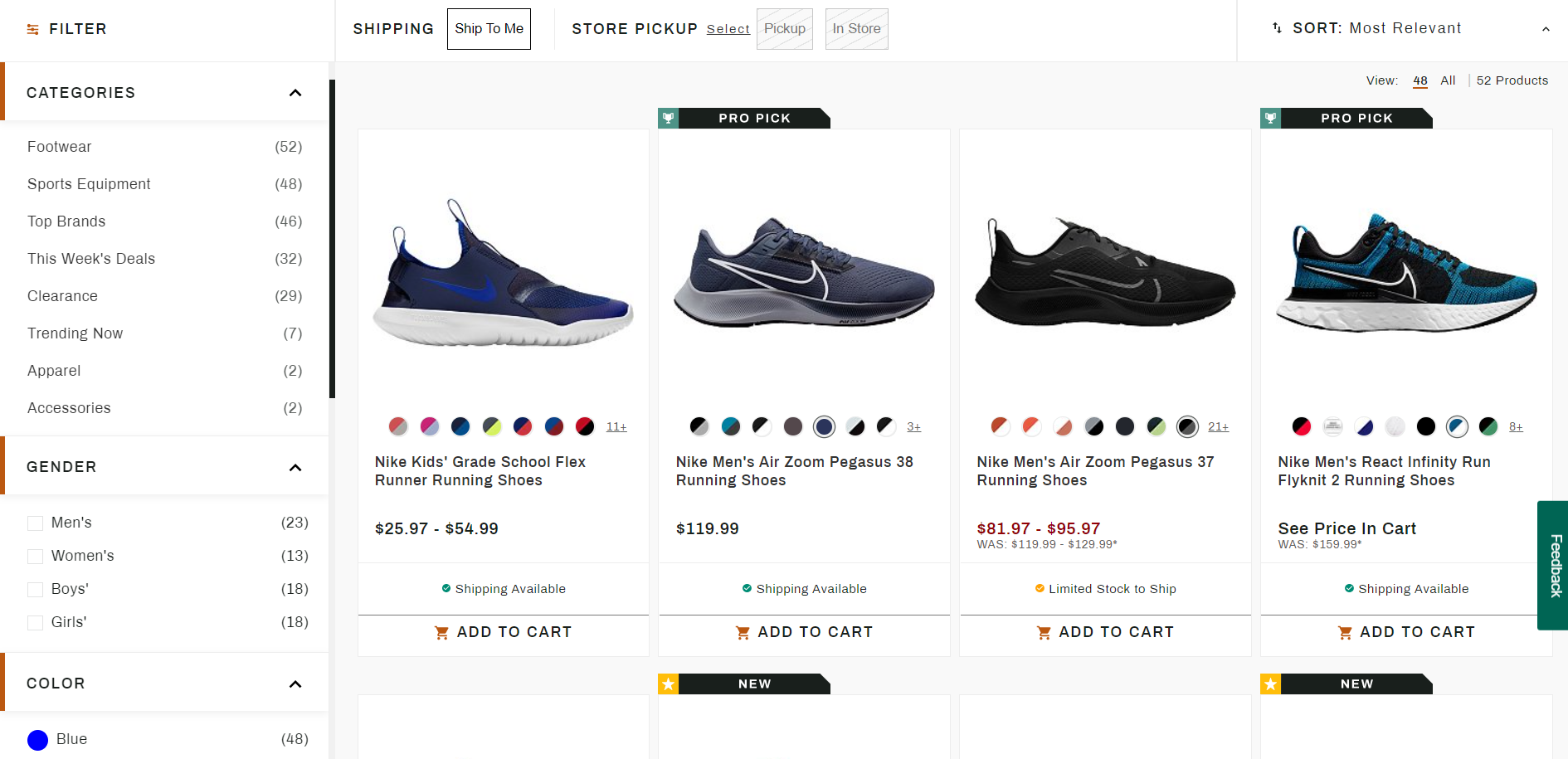 Shoes Keyword Examples