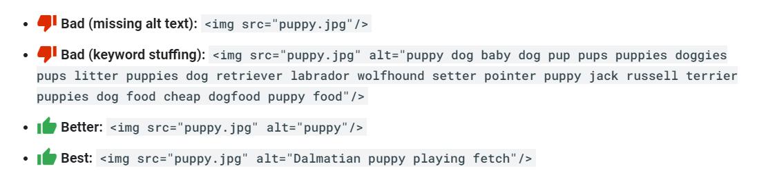 Use Descriptive Alt Text