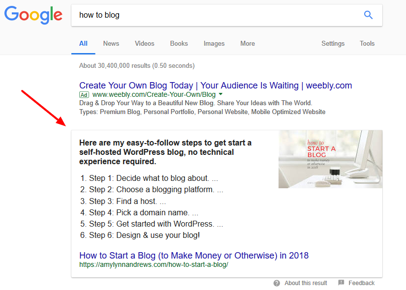 Lost featured snippets